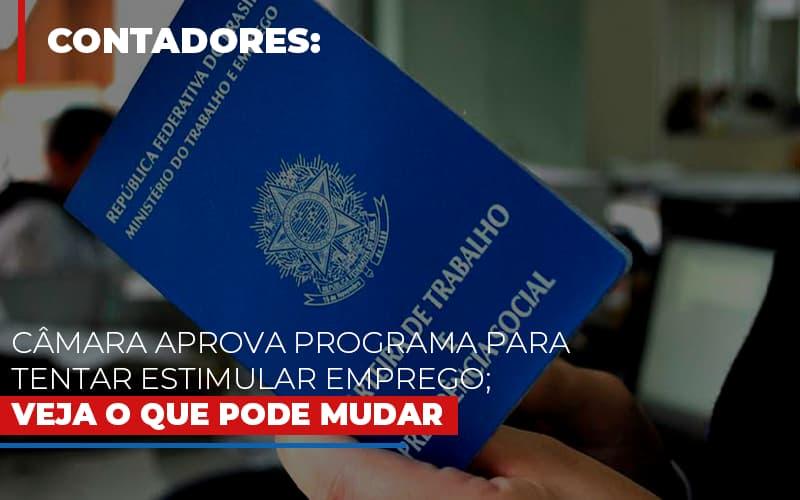 Camara Aprova Programa Para Tentar Estimular Emprego Veja O Que Pode Mudar - Contabilidade em São Paulo | ECONSA Contabilidade e Gestão Empresarial
