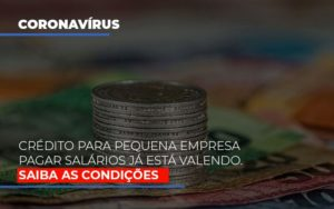 Credito Para Pequena Empresa Pagar Salarios Ja Esta Valendo - Contabilidade em São Paulo | ECONSA Contabilidade e Gestão Empresarial