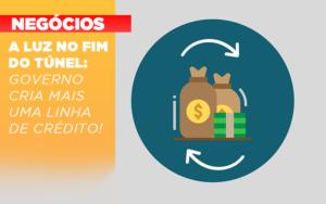A Luz No Fim Do Tunel Governo Cria Mais Uma Linha De Credito - Contabilidade em São Paulo | ECONSA Contabilidade e Gestão Empresarial